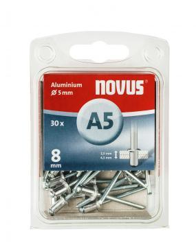A 5 x 8 mm alluminio 30 pezzi