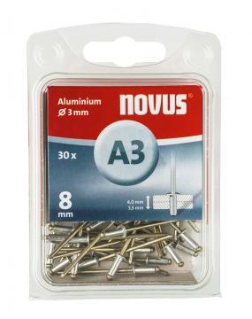 A 3 x 8 mm alluminio 30 pezzi