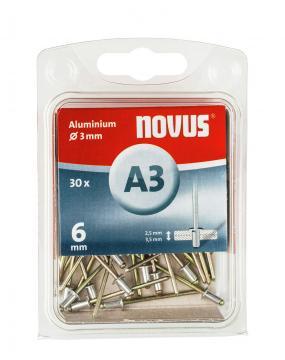 A 3 x 6 mm alluminio 30 pezzi