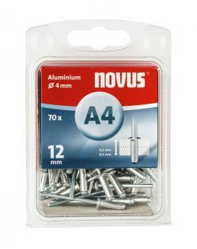 A 4 x 12 mm alluminio 70 pezzi