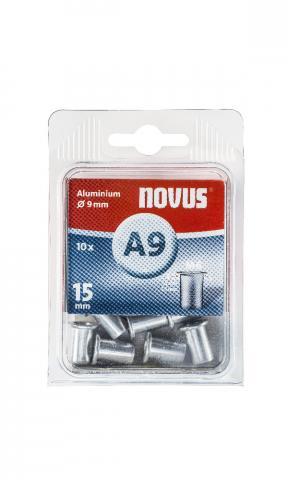 A9 6 x 15 mm M6 alluminio 10 pz.