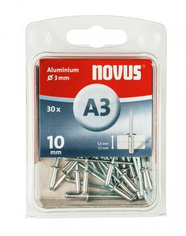 A 3 x 10 mm alluminio 30 pezzi 30 pz.