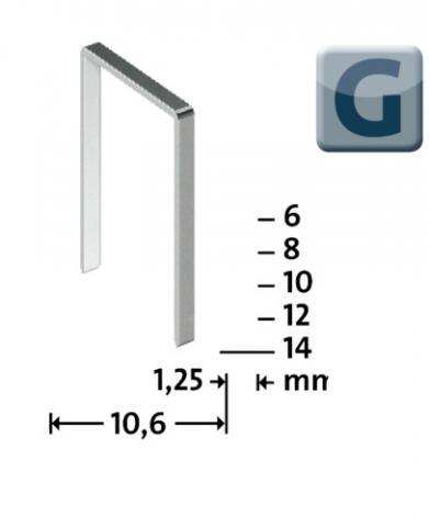 Tipo G 11/8 mm zincato 1200 pezzi 1200 pz.